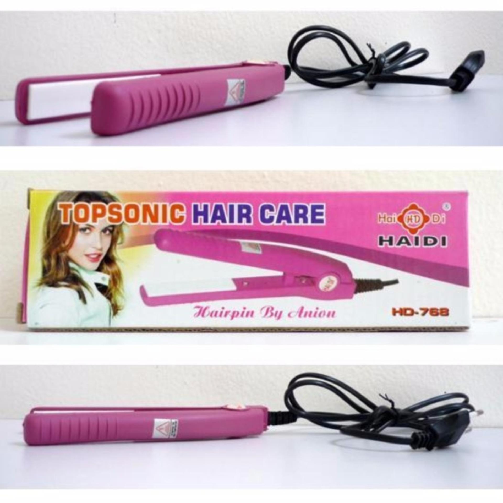 Flash Sale Haidi Catok rambut Mini TopSonic Hair Care - Pink Harga Saya 2e8813fdd9