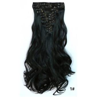 Harga Hair Extension Perpanjangan Rambut model klip clip wigs long curly55 cm 1 Murah
