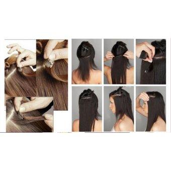 ... Hair Extension Perpanjangan Rambut model klip clip wigs long curly55 cm 4a33 - 3 ...