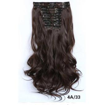 Harga Hair Extension Perpanjangan Rambut model klip clip wigs long curly55 cm 4a33 Murah