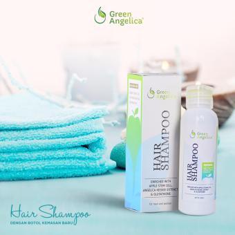 Hair Shampoo Obat Rambut Rontok Mengurangi Ketombe dan Kerontokan Green Angelica