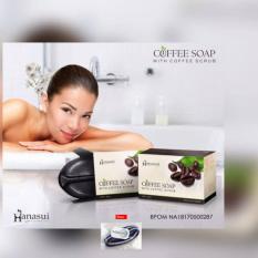 Hanasui Coffee Soap / Sabun Kopi Hanasui With Coffee Scrub BPOM + Free Ikat Rambut Polkadope - 1 Pcs