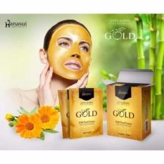 Hanasui Gold Anti-Aging Feel Off Mask Gold - Masker Emas