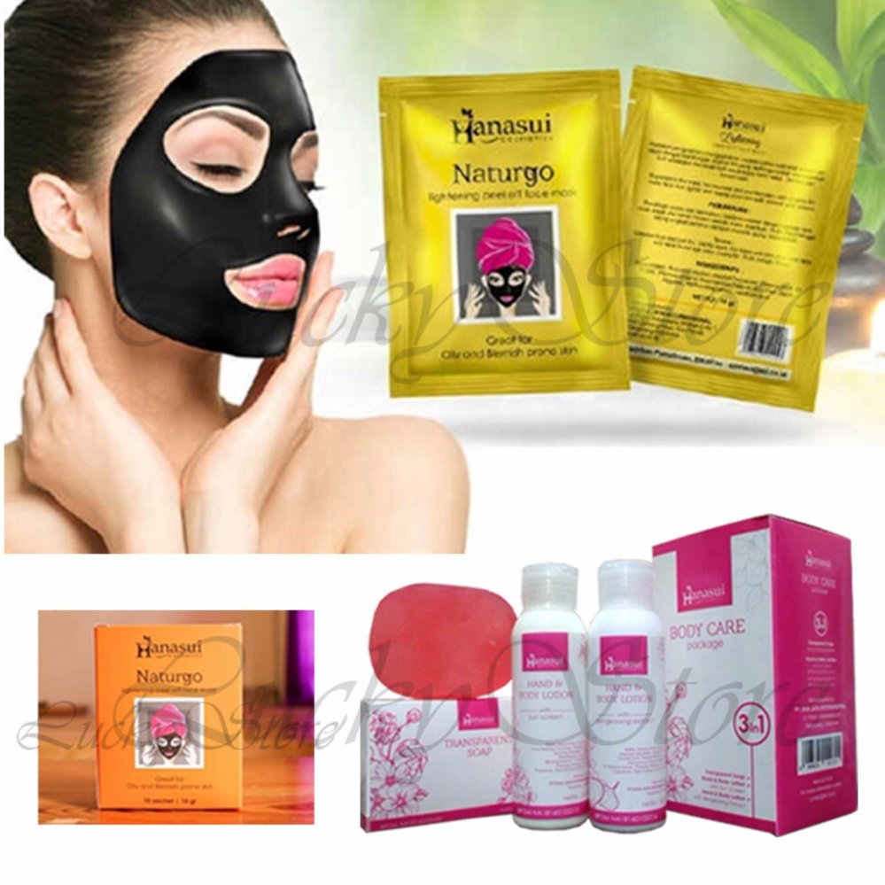 Cari Bandingkan Hanasui Naturgo Masker Lumpur Pengangkat Komedo 10 Hanasuiii Sachet Free Body Care 3 In 1