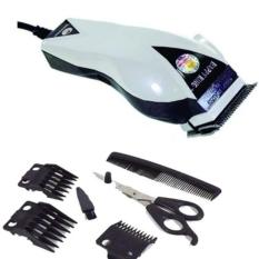 Happy King HK-900 Alat Cukur Rambut Hair Clipper Trimmer Mesin Potong Professional Groomer 3 Mata Pisau Tajam Dan Hemat Energi - Putih