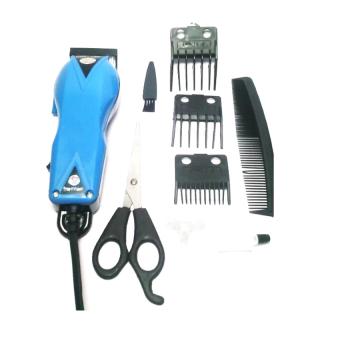 Gambar Happy King HK 900 Professional Hair Clipper Trimmer Mesin Alat Cukur Biru Muda