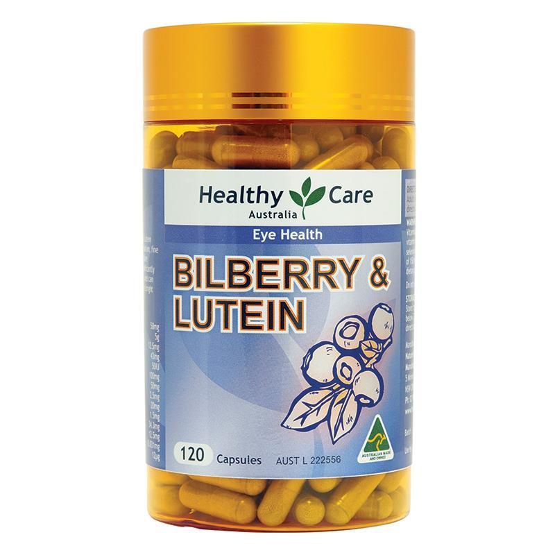 Flash Sale Healthy Care Bilberry Lutein - 120 Caps