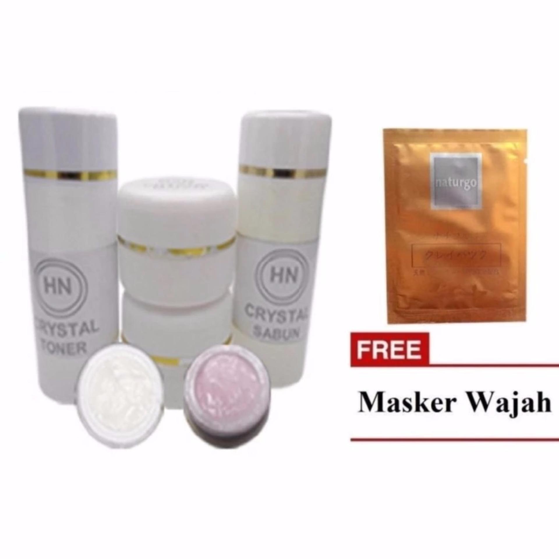 HN Crystal Cream Original 15gr + Masker Wajah Naturgo