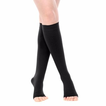 Harga Cofoe Level 2 Medical Compression Stockings Sports Thigh High Vein Socks Below Knee(XL) - intl