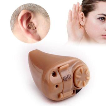 Harga Super Mini Hearing Aid Volume Sound Voice Amplifier Device Low Noise Ear Care - intl