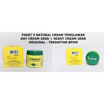 Temulawak V Natural Paket Cream BPOM (Krim Siang & Malam) - 2 Item .