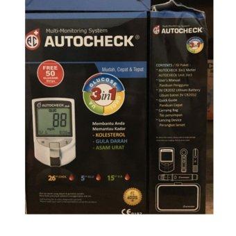 Autocheck Gcu Multi Monitoring Cek Gula, Kolesterol, Asam Urat - Box Hitam, 233.000, Update. Autocheck GCU 3 in 1 ...