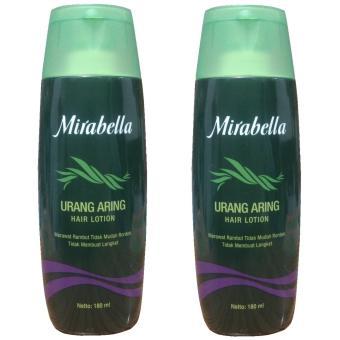 Mirabella Urang Aring Hair Lotion Merawat Rambut Tidak Mudah Rontok 180ml 2pcs ...