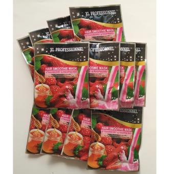 Harga XL Professionnel (12 Schts) HAIR MASK Smoothie STRAWBERRY & RASPBERRY 25g