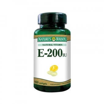 Nature's Bounty Vitamin E-200IU - 100 Softgels