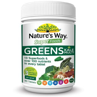 Harga Nature's Way Super food Greens plus Kale Multi 90 Tablet