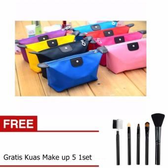Harga Bos Online Tas Make Up + Kuas Make Up 5 - 1Set