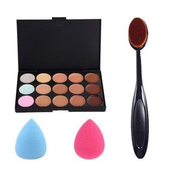 Detail Gambar Make Up palet kit set 15warna palet untuk menyamarkan 1 buah sikat gigi orang