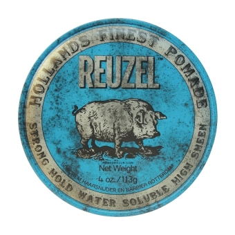 Harga Reuzel Strong Hold Water Solube High Sheen Pomade - Biru