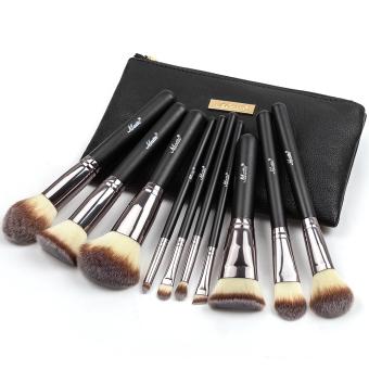 Matto10pcs kuas Makeup Kosmetik dasar kuas Make Up alat Kit untuk bubuk perona pipi dengan Case