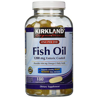 Harga Kirkland Signature Enteric Coated Fish Oil Omega 3 1200 mg - 180 Caps