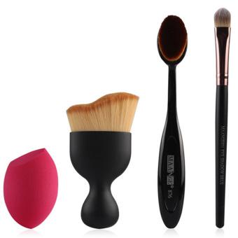 Niceeshop 7 Buah Kuas Kosmetik Rias Profesional Yang Ditetapkan Source · 4 buah kuas kosmetik rias