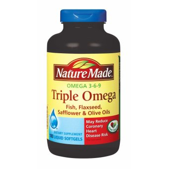 Harga Nature Made Triple Omega 3-6-9 - 180 Softgels