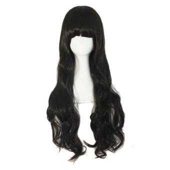 Women Fluffy Long Curly Hair Wig With Bangs - intl ...