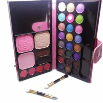Harga Mesh Eyeshadow Dompet Big Size Palette Make Up Blusher Powder Lipstick Eyebrow All in One - 1 Pcs
