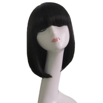 Cocotina Blonde Short Wig Women's Cute Fringe Straight Bob Cosplay Wig Heat Resistant Full Hair Wig