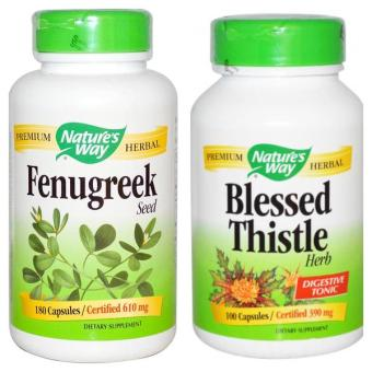 Harga Nature's Way Fenugreek 180 Vegetarian Caps + Blessed Thistle 100 Vegetarian Caps - ASI Booster