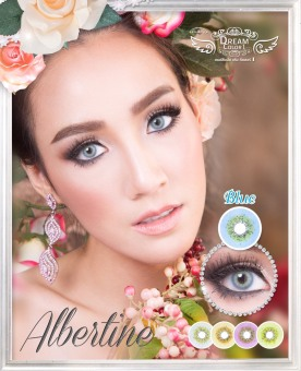 Dreamcolor1 Albertine Blue Softlens with UV Protection + Gratis Lenscase