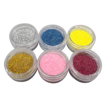 Penuh Bubuk Akrilik Cair Perancis Kuas Nail Art Lem Ujung Sinar UV Gel .