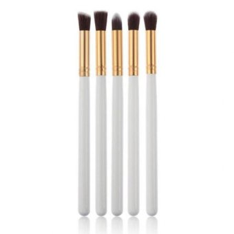 Coconiey 5PCS Cosmetic Set Eyeshadow Foundation Wood Pro MakeUp Brush Tools White (Intl)