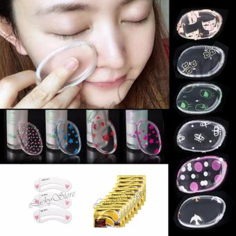 Lucky Silisponge / Silicon Sponge MakeUp Motif-Random- 1 Pcs + Collagen Eye Mask