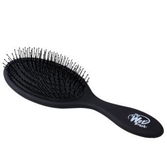 Salon Edge Detangling Wet Hair Brush Gentle Spa Pro All Hair Types-Black - intl