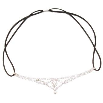 Harga Hang-Qiao Women Rhinestone Elastic Chain Headband Hair Band 2#