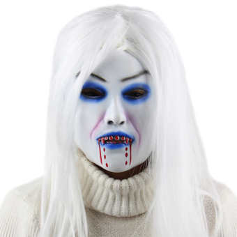 Harga Halloween Party Horror White Witch Ghost Latex Mask Masquerade