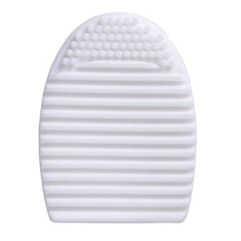 Harga Lucky - Brush Egg Cleaning Brush Tool Beauty Makeup Tools - White