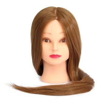 45,72 cm Yaki Maniqui pemotongan rambut sintetis rambut kepala boneka manekin kepala wanita kepala tata rias Salon tata rias praktek ...