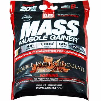 Harga Elite Labs Mass Muscle Gainer 20 Lbs Double Rich Chocolate