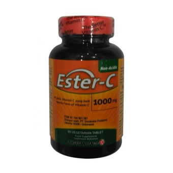 Harga American Health GNC Ester-C with Citrus Bioflavonoids 500mg - 90 Tablet