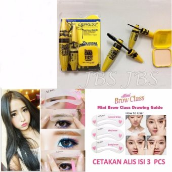 JBS Cetakan Alis Mini Brow Class - Eyebrow Stencil - Isi 3 Pcs. Source ·
