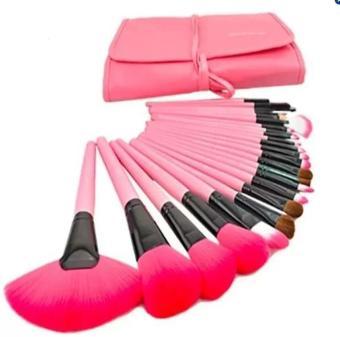 La Vie 10 buah pegangan bambu Set alat kuas Make Up sintetis Aprikot . Source ·