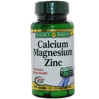 Nature's Bounty Calcium Magnesium Zinc - 100 Caps
