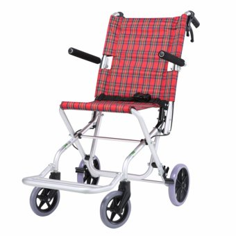 Harga Aluminum Folding Portable Wheel chair - intl