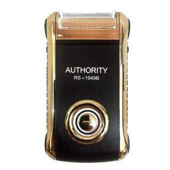 Harga Zell Authority Rechargeable Electric Shaver RS-1949B - Gold/Hitam