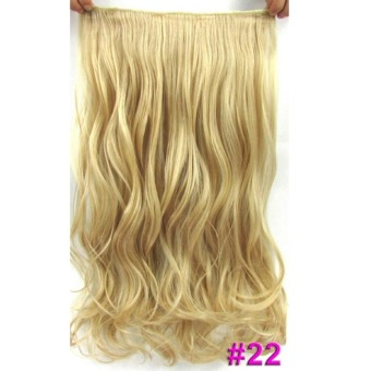 Fashion Hairpiece 60cm 120g body wave hair piece hot resistant fiber clip hair extensions #22