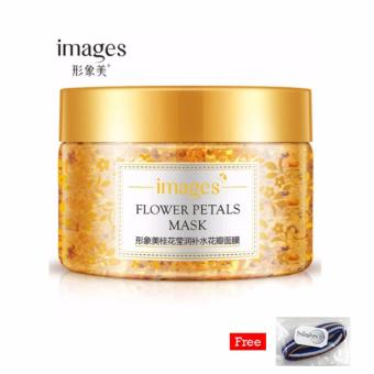 harga Images Flower Petals Mask Original Korea 120Gr - Gold + Free Polkadope Ikat Rambut - 1 Pcs Lazada.co.id