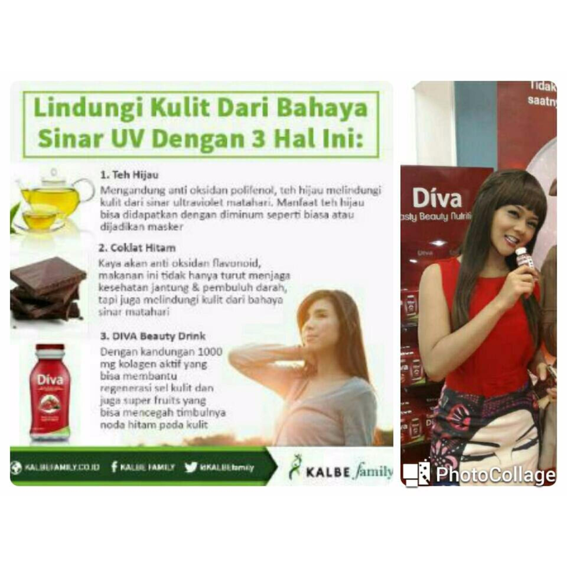 Kalbe Diva Beauty Drink Minuman Kolagen Aktif Paket Isi 6 Daftar Colis Sakura Collagen Botol Mixed Berry 1000mg Elastin X 80ml